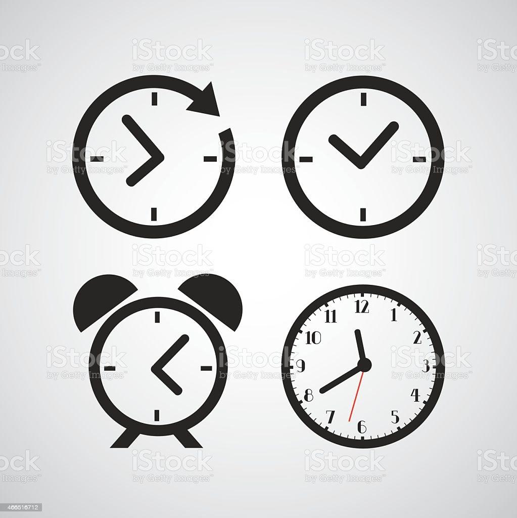 Icône de temps - Illustration vectorielle