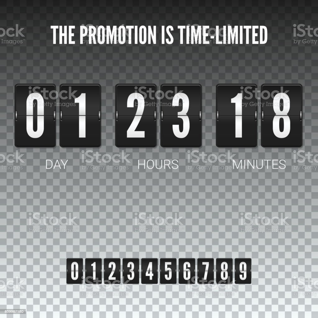 Time Is Limited Analog Flip Clock Timer Template Of Flip Countdown