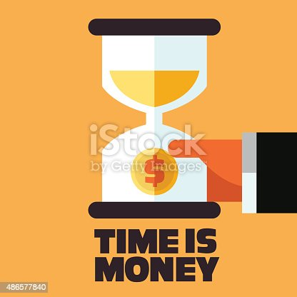 614338352istockphoto Time is money and money saving concept. Businessman with hourglass 486577840
