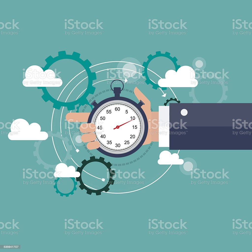 Time is money business concept vector art illustration