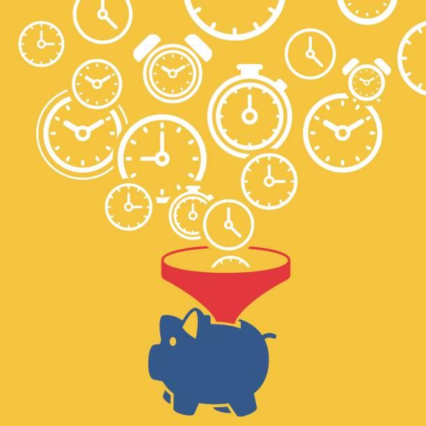 Time is money concept Time is money concept,vector illustration. time is money stock illustrations