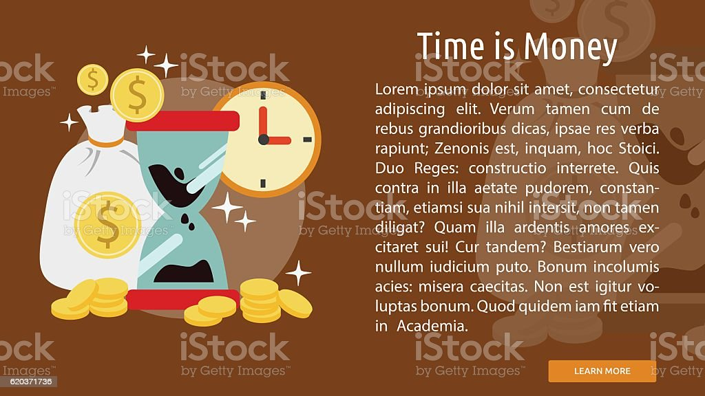 Time is Money Conceptual Banner time is money conceptual banner - arte vetorial de stock e mais imagens de computador royalty-free