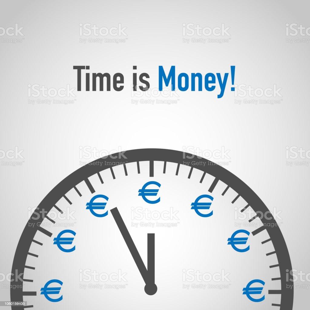 Temps est argent, Euro Concept - Illustration vectorielle