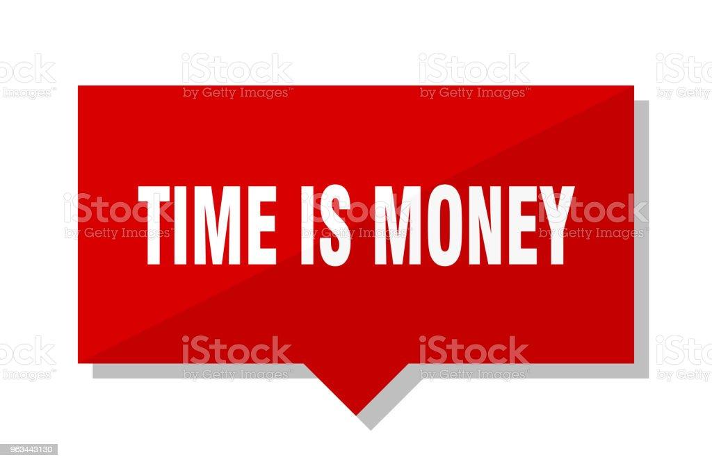 zaman para kırmızı etikettir - Royalty-free Amblem Vector Art