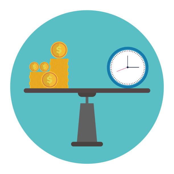 Time is money Time is money time is money stock illustrations