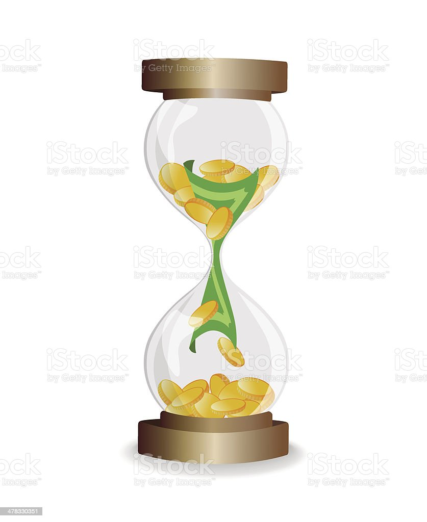 Time is money - vector illustration royalty-free stock vector art