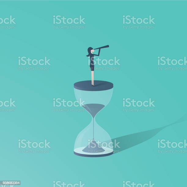 Time is up movement with woman standing on top of sand clock or with vector id938683354?b=1&k=6&m=938683354&s=612x612&h=rd5yiib o4wlijqruzwnbg71x16y6p31hpd8viuobyo=