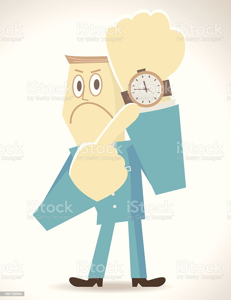 Time is up vector art illustration
