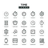 Time Line Icon Set