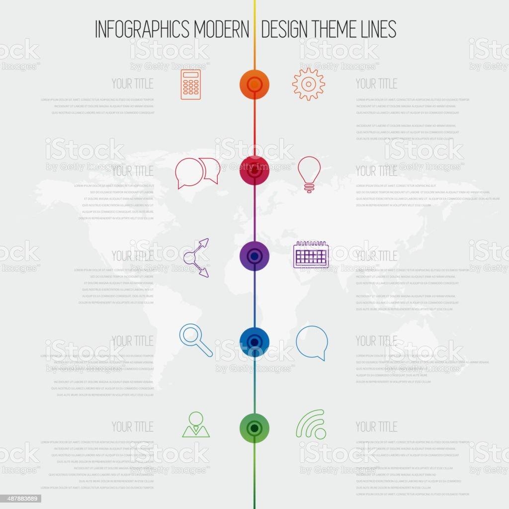 Ilustración de Línea De Tiempo De Infografía Diseño Plantilla Con ...