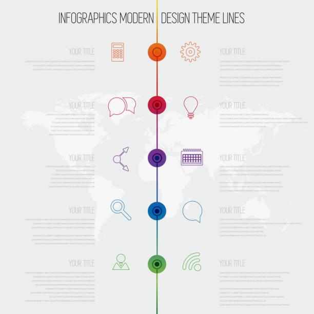 Línea de tiempo de infografía diseño plantilla con conjunto de diagrama - ilustración de arte vectorial