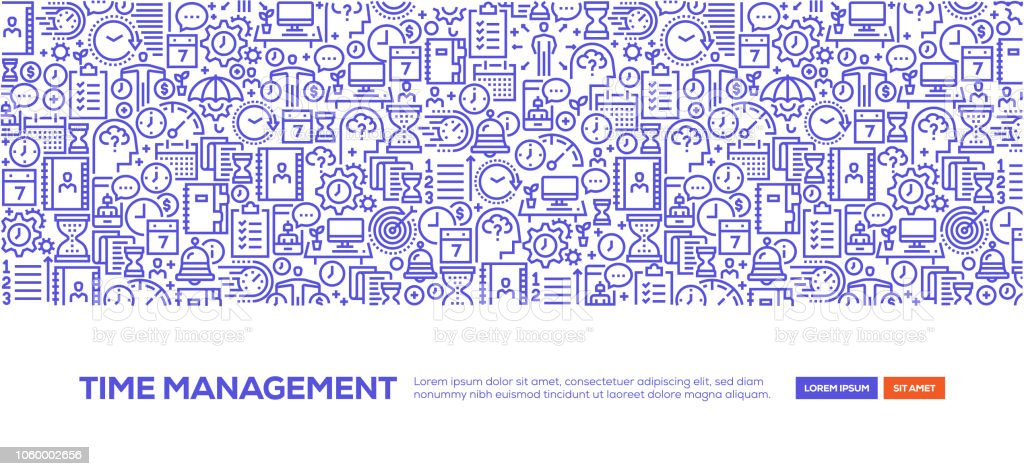 Time Management Banner Stock Illustration Download Image Now Istock