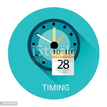 Time Management Business Timing Icon Stock Vector Art & More Images of Business 596356600