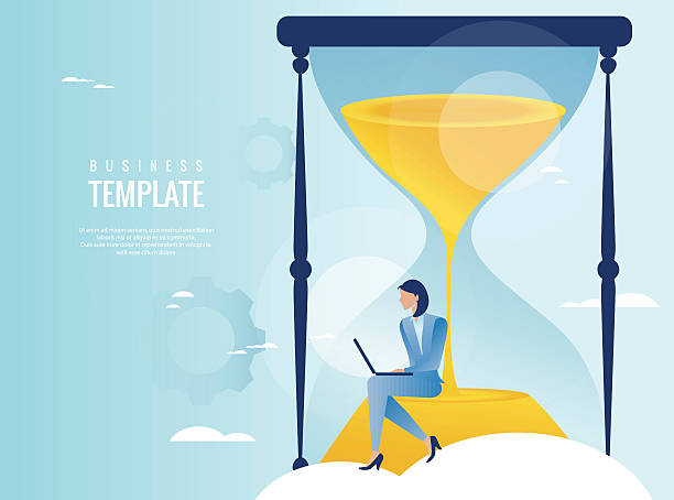 Time management concept vector art illustration