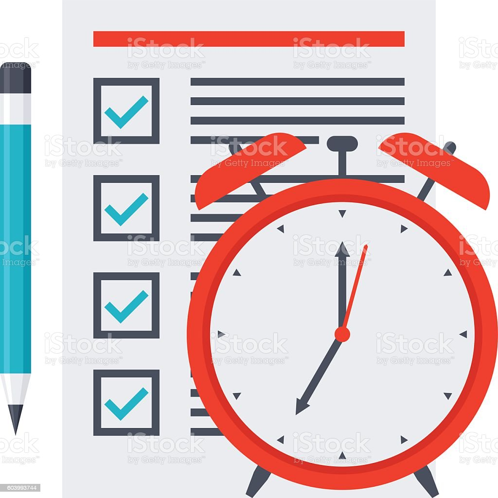 Time Management Concept vector art illustration