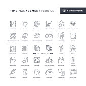 29 Time Management Icons - Editable Stroke - Easy to edit and customize - You can easily customize the stroke with