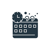 istock time management icon. Glyph time management icon for website design and mobile, app development, print. time management icon from filled management collection isolated on white background.. 1323479702
