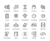 Time Management Icon Set - Thin Line Series