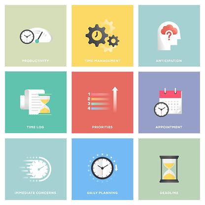 Time Management Icon Set