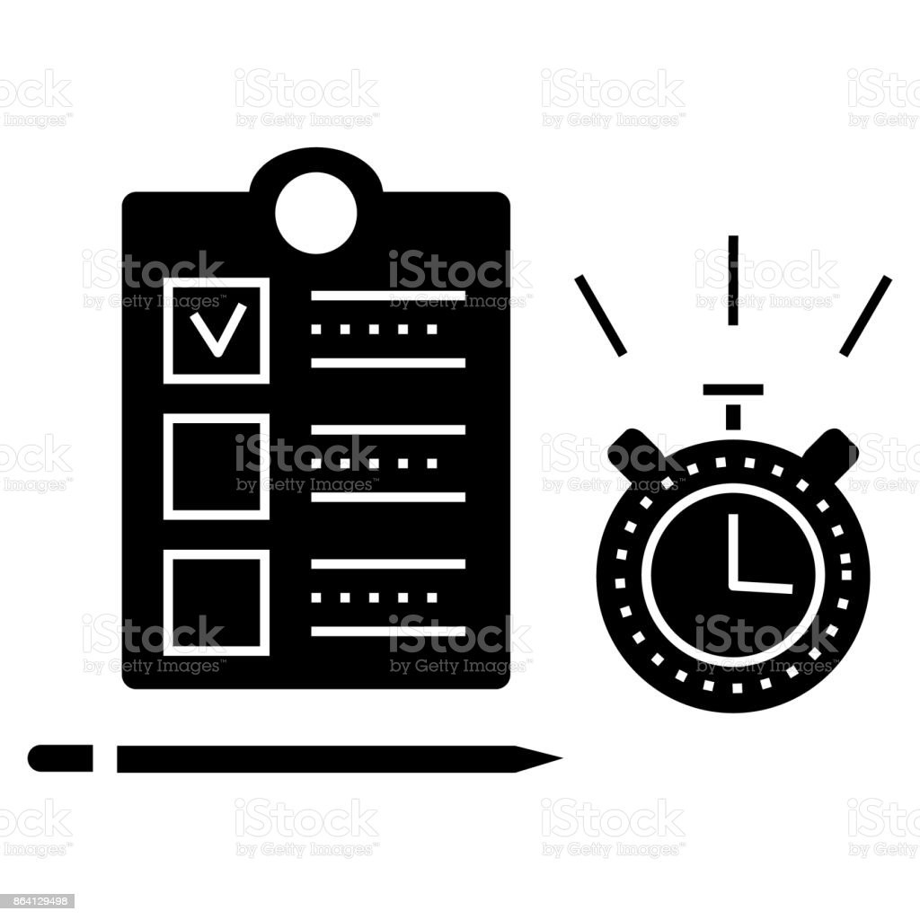 time management  icon, vector illustration, sign on isolated background royalty-free time management icon vector illustration sign on isolated background stock vector art & more images of adult