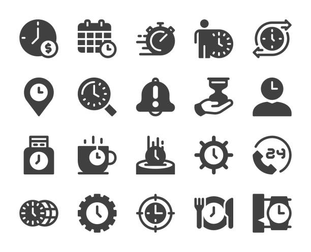 時間管理 - アイコン - 出勤点のイラスト素材/クリップアート素材/マンガ素材/アイコン素材