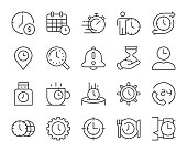 istock Time Management - Light Line Icons 1191595703