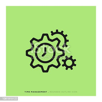Time Management Rounded Line Icon
