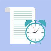 Time management, schedule concept or planner, business concept vector illustration