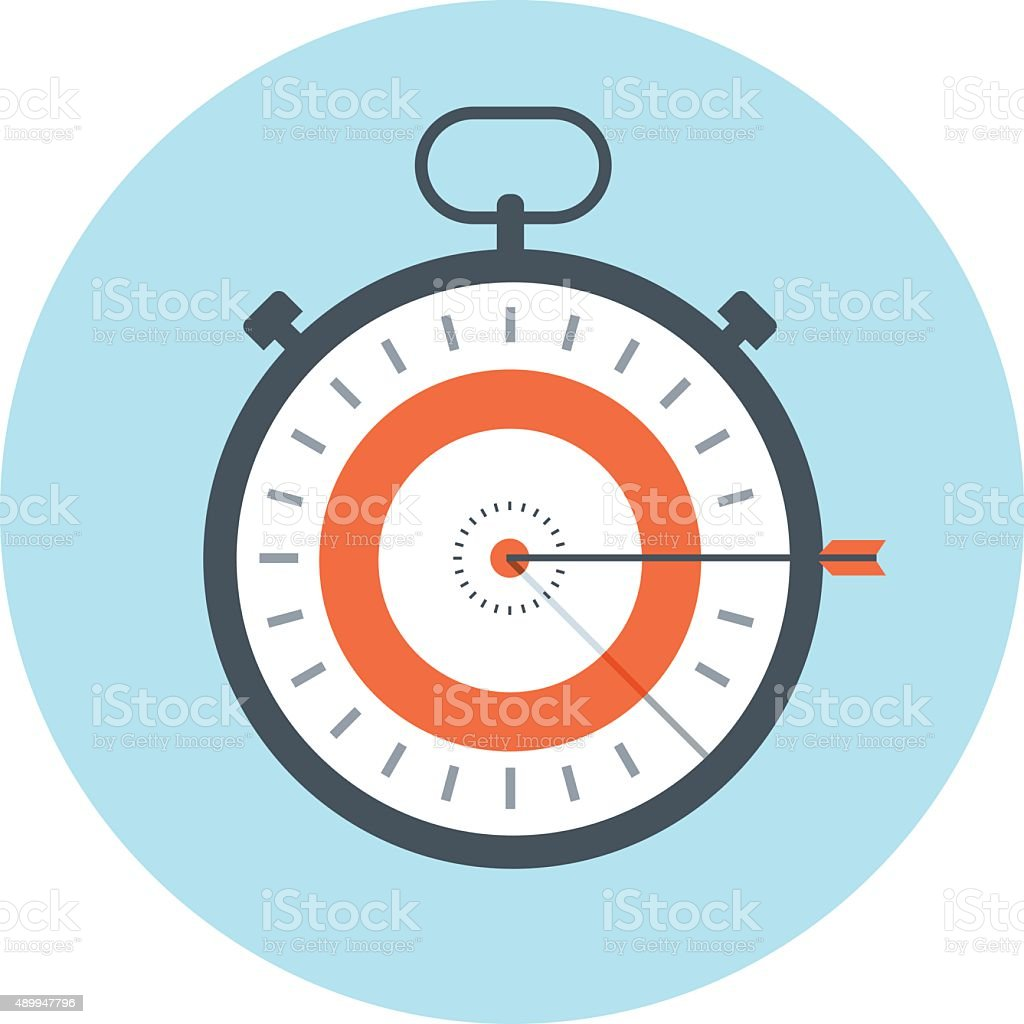 Time management, time is money theme, flat style, colorful, vector...