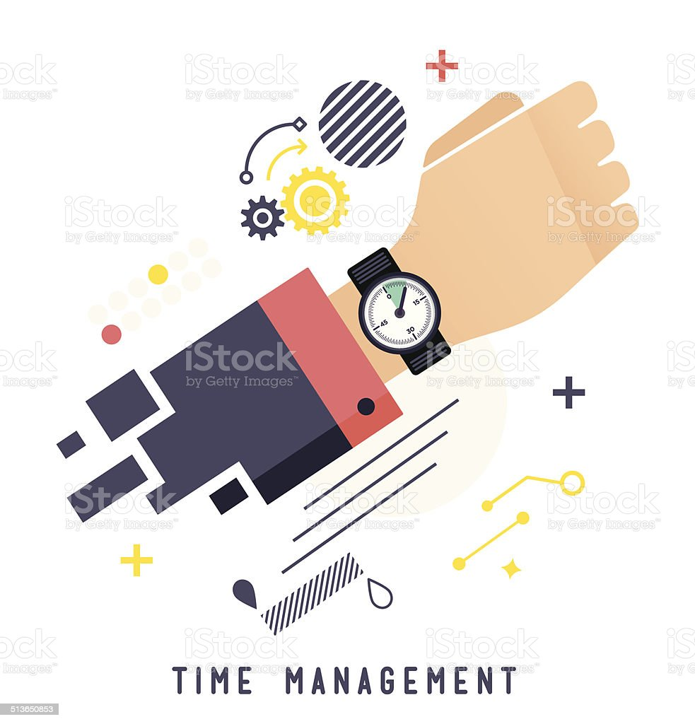 Time Management: Time Management Stock Vector Art & More Images Of Abstract