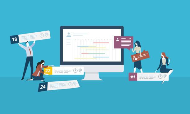 управление временем - holiday background stock illustrations
