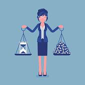 Time, money good balance for businesswoman