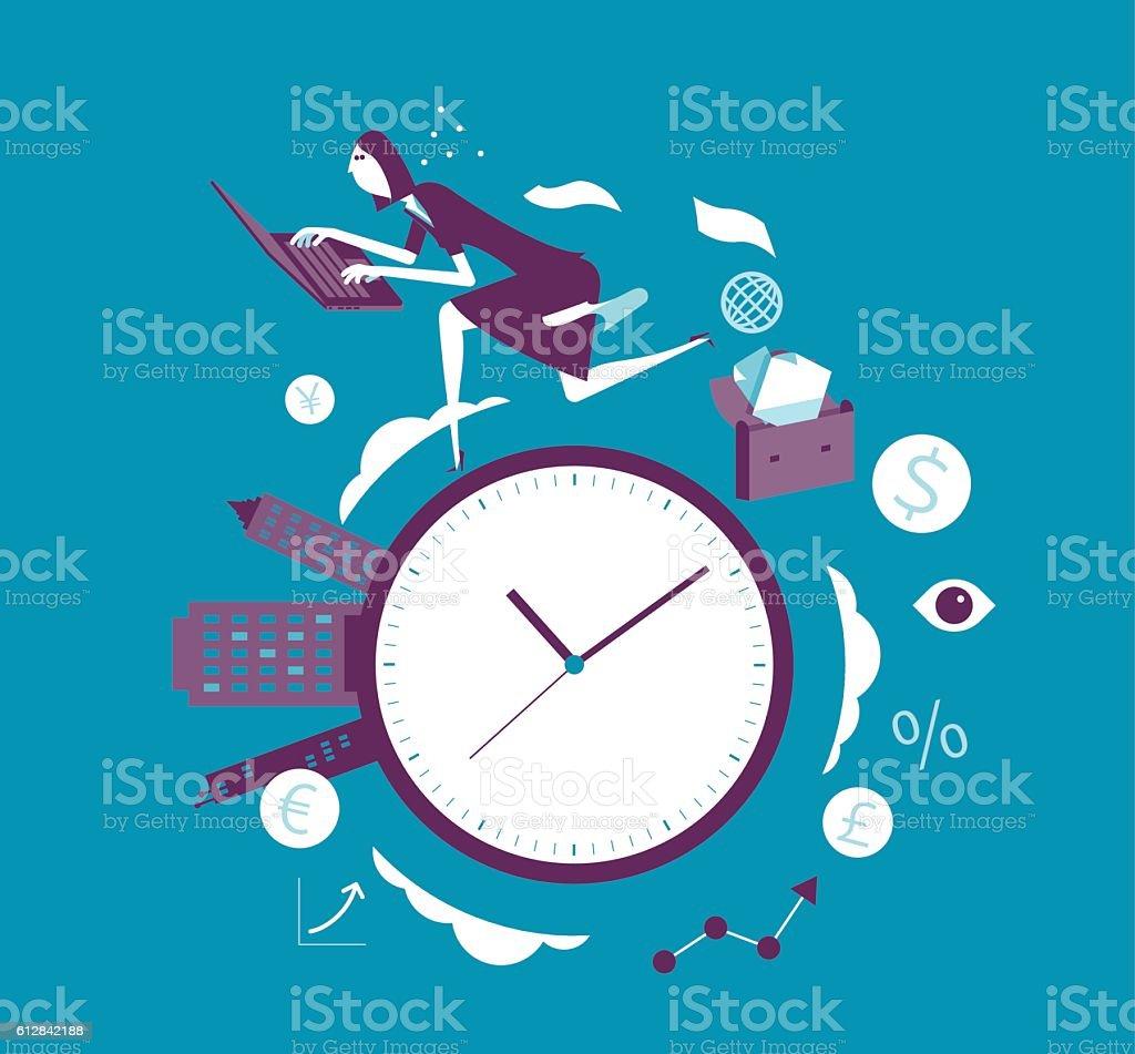 Time Race vector art illustration