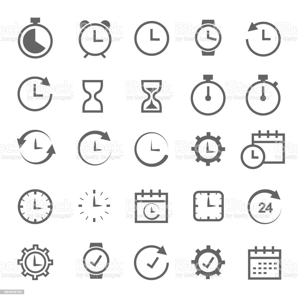 Time related icon vector art illustration