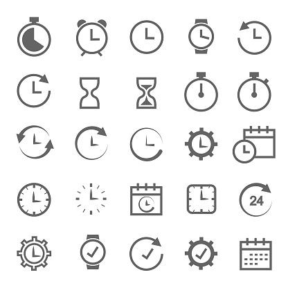 Icône Connexe Au Moment Vecteurs libres de droits et plus d'images vectorielles de Affaires
