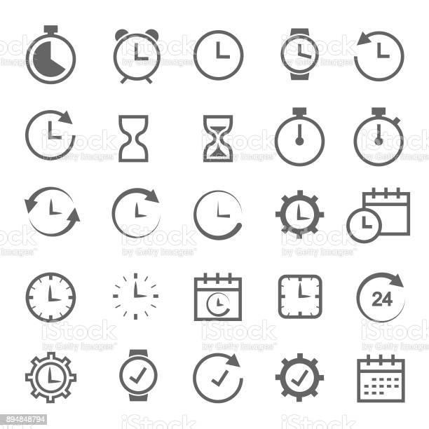 Ilustración de Icono Del Tiempo Relacionados Con y más Vectores Libres de Derechos de Arena