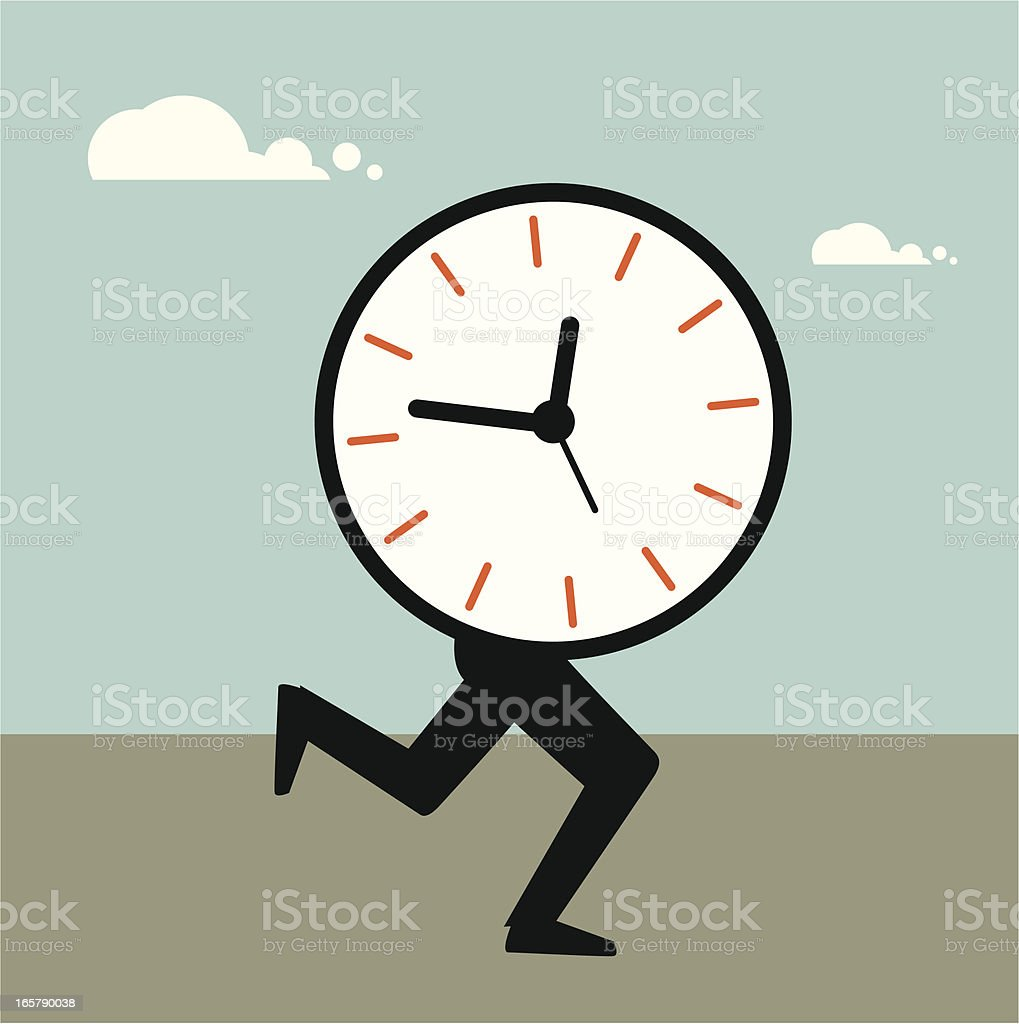 Time running royalty-free stock vector art