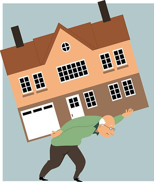 """zeit, zu """"verkleinern"""" - hypotheken kündigung stock-grafiken, -clipart, -cartoons und -symbole"""
