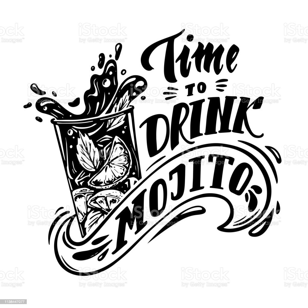 Time To Drink Mojito Stock Illustration Download Image Now Istock