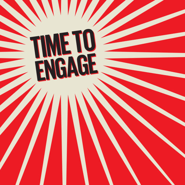 Time To Engage vector art illustration