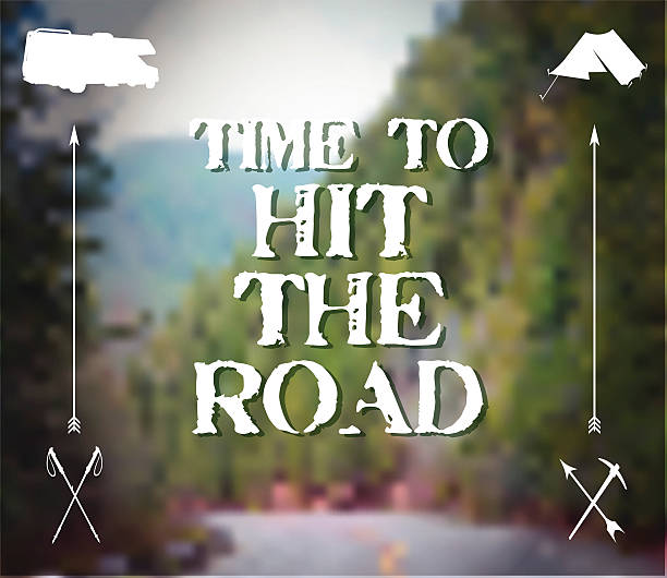 Time to Hit the Road vector art illustration