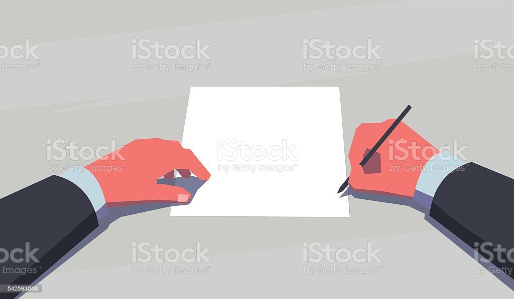 Time to make decision. vector art illustration