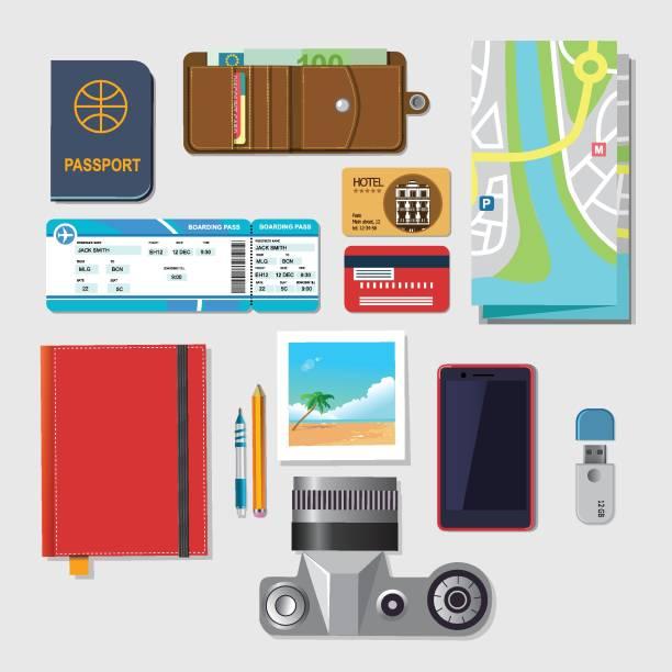 reisezeit vektor flache illustrationen - fotografieanleitungen stock-grafiken, -clipart, -cartoons und -symbole
