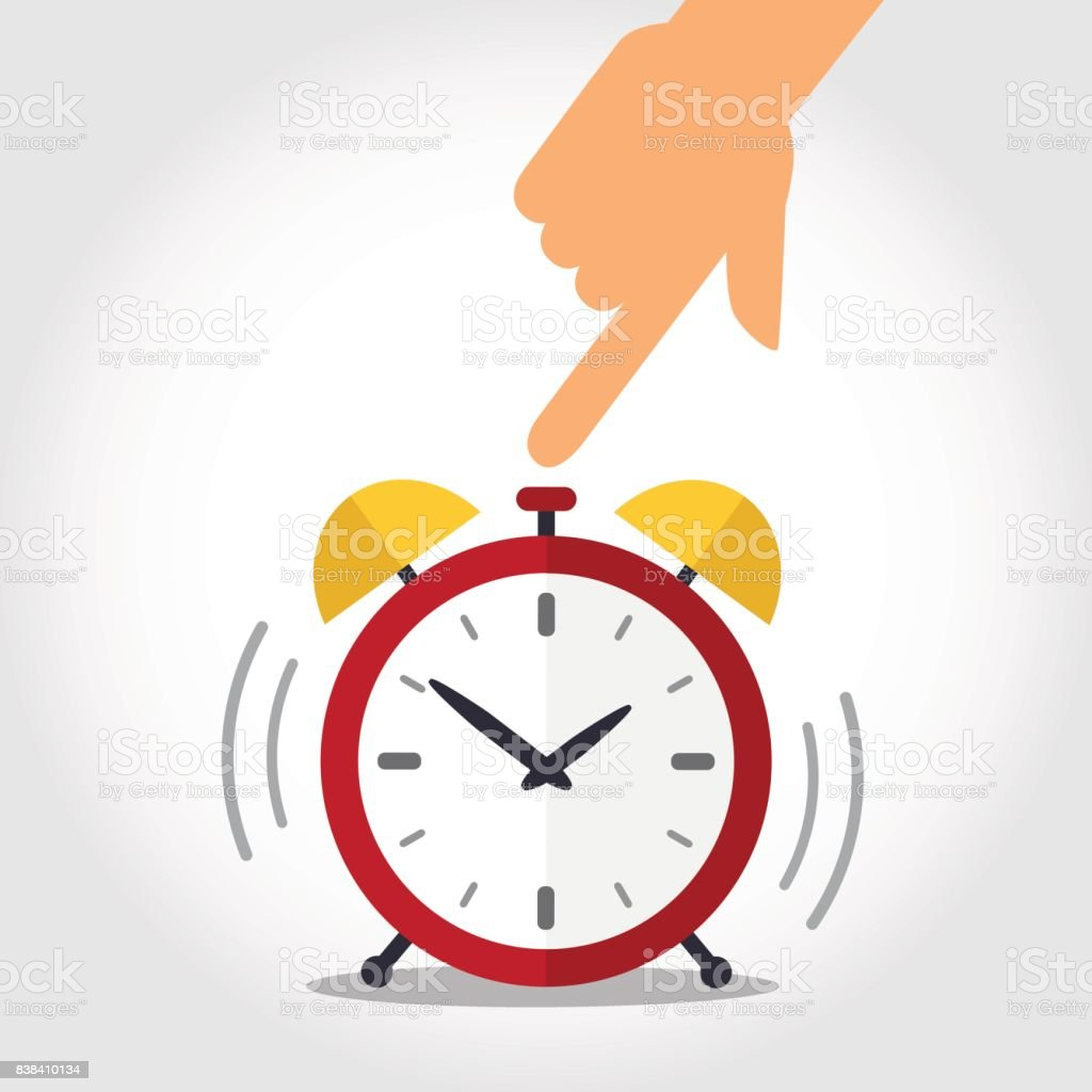 Time to wake up vector art illustration