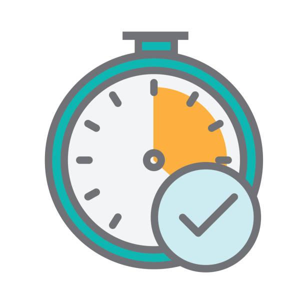 stockillustraties, clipart, cartoons en iconen met time tracking illustratie - punch
