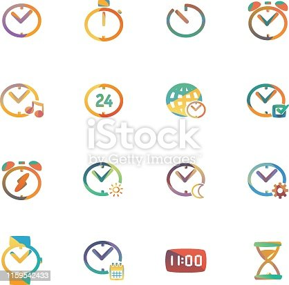 The vector file of time icon set.