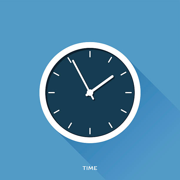 Time Flat design icon for web design wall clock stock illustrations