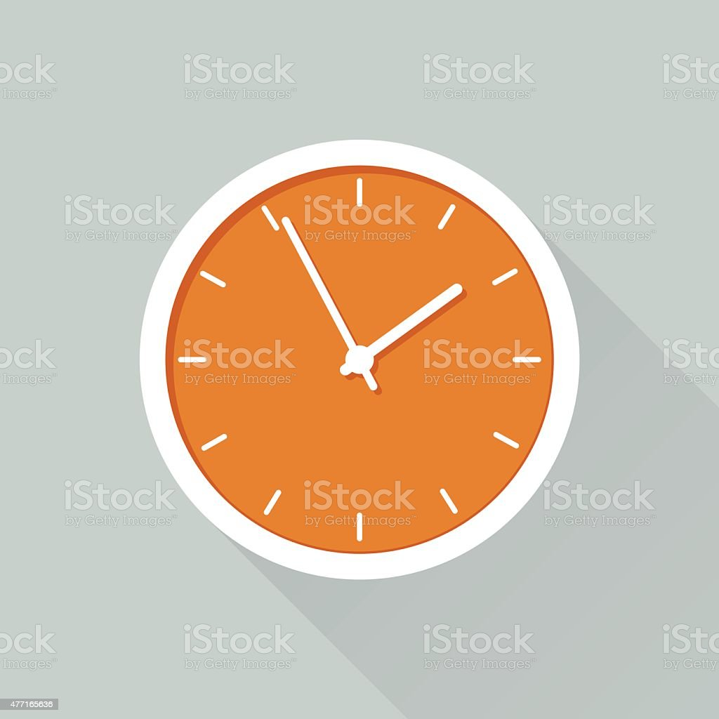 Time Flat design icon for web design Business stock vector