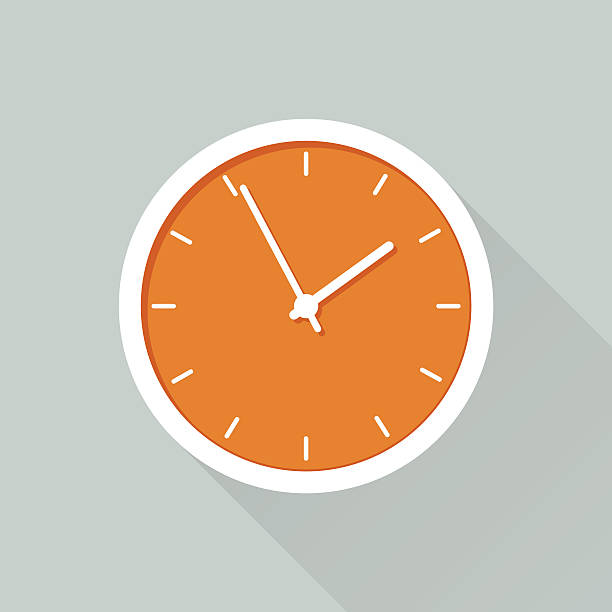 Time Flat design icon for web design clock stock illustrations