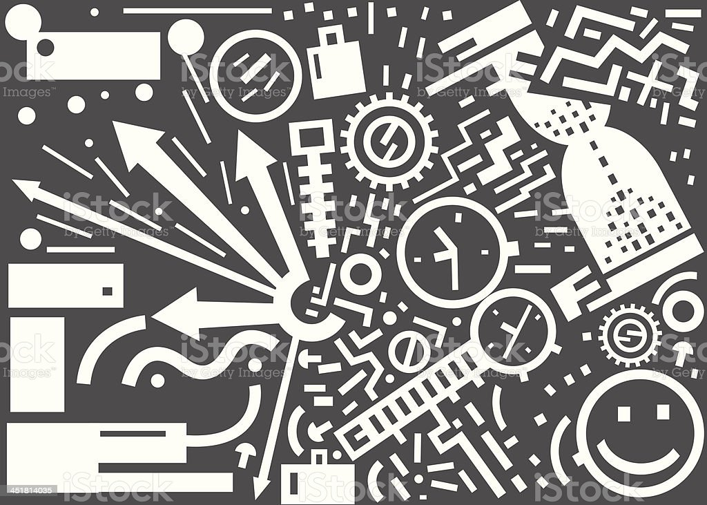 time -  vector illustration royalty-free time vector illustration stock vector art & more images of abstract
